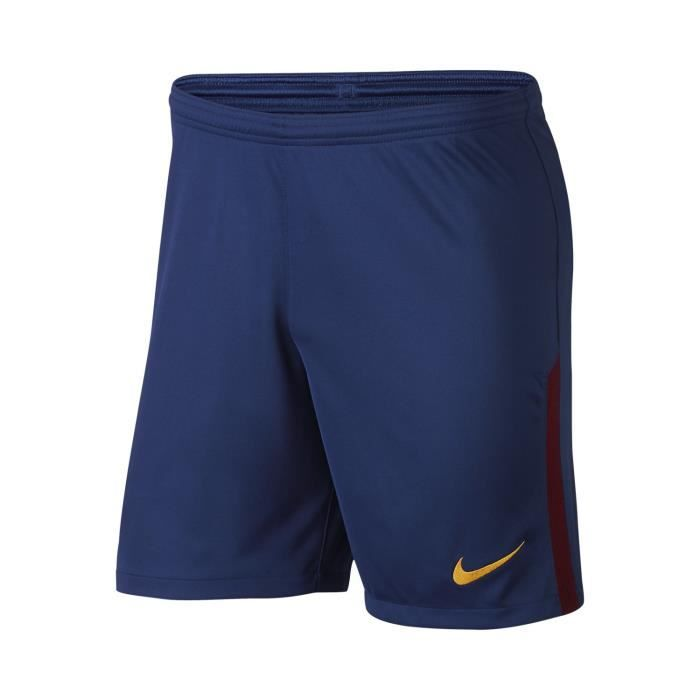 Nike Short Barcelone Replica 17/18 Bleu Short Club Homme Football