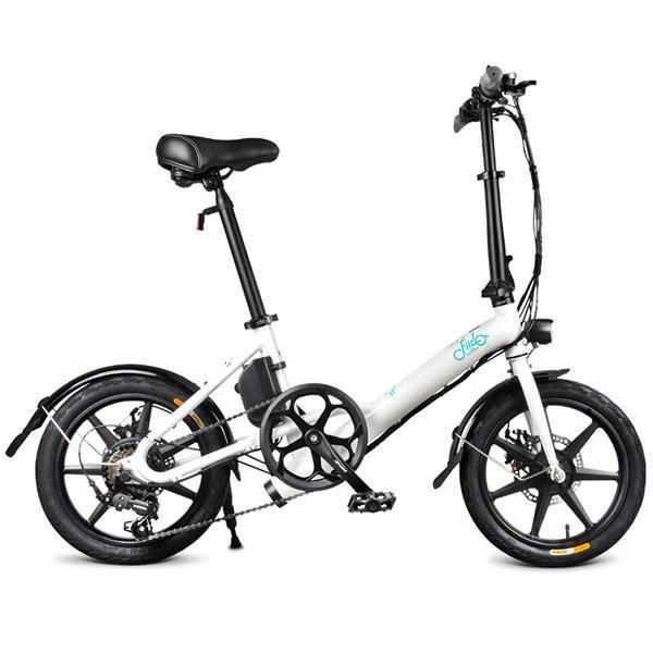 Vélo Électrique Pliant FIIDO D3S - 7.8Ah - 16 Pouces - 6 vitesses Shimano - Blanc