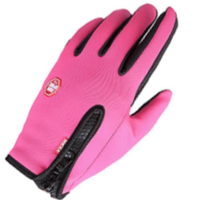 Gants de Vélo Moto Hiver écran tactile Gants Sports Ski Pêche pour Hommes Femme M