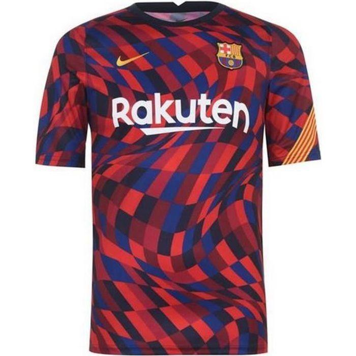 Nouveau Maillot Officiel Pré Match Homme Nike FC Barcelone Saison 2020-2021