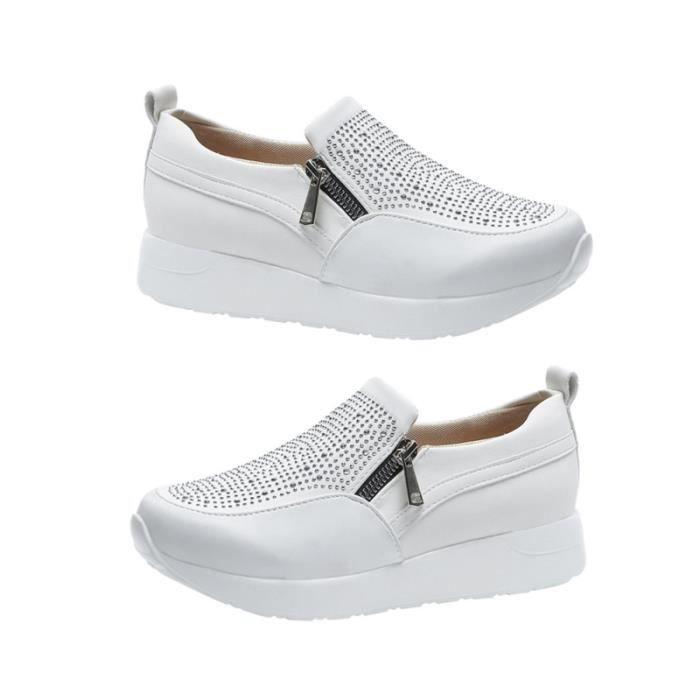 1 paire de chaussures de sport décontractées à la bouche peu profonde délicates baskets incrustées FITNESS SHOES - TRAINING SHOES