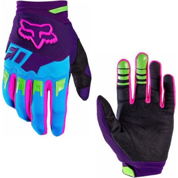 Plein doigt anti-dérapage résistance résistance course moto gants gants vélo vélo VTT gants d'équitation violet violet L