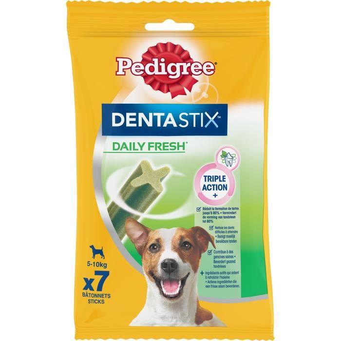 PEDIGREE Dentastix Bâtonnets hygiène bucco-dentaire fresh - Pour petit chien - 110 g