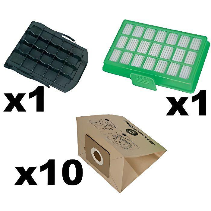 Rowenta Set für Power Space RO23xx ZR007001 Accessoire Sacs, filtres pour aspirateur, 3 l, Noir-Marron-Vert, 3 liters ZR00700