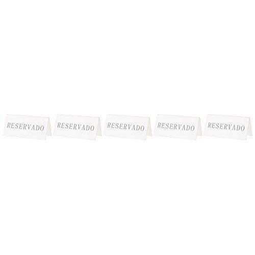 Securit Tableau noir de Table en Espagne réservation, supports, Lot de 5 - TN-RES-ES-WT
