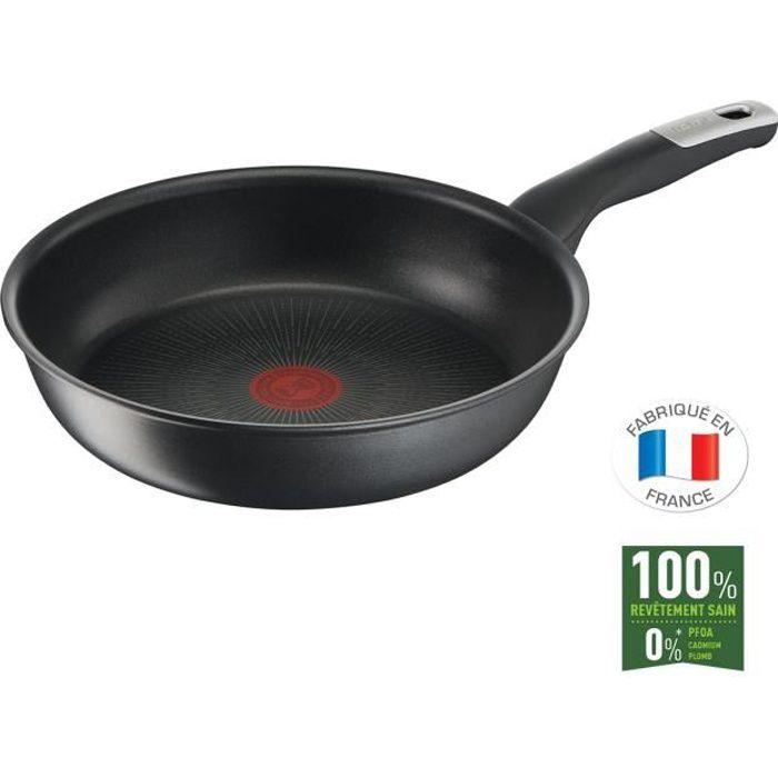 TEFAL G2550502 Poêle 26 cm UNLIMITED Tous feux dont induction - Fabrication française - Noir
