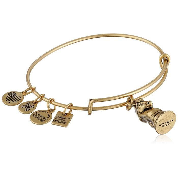Alex And Ani Womens The Knight Expandable Rafaelian Gold Bangle Bracelet I8E33
