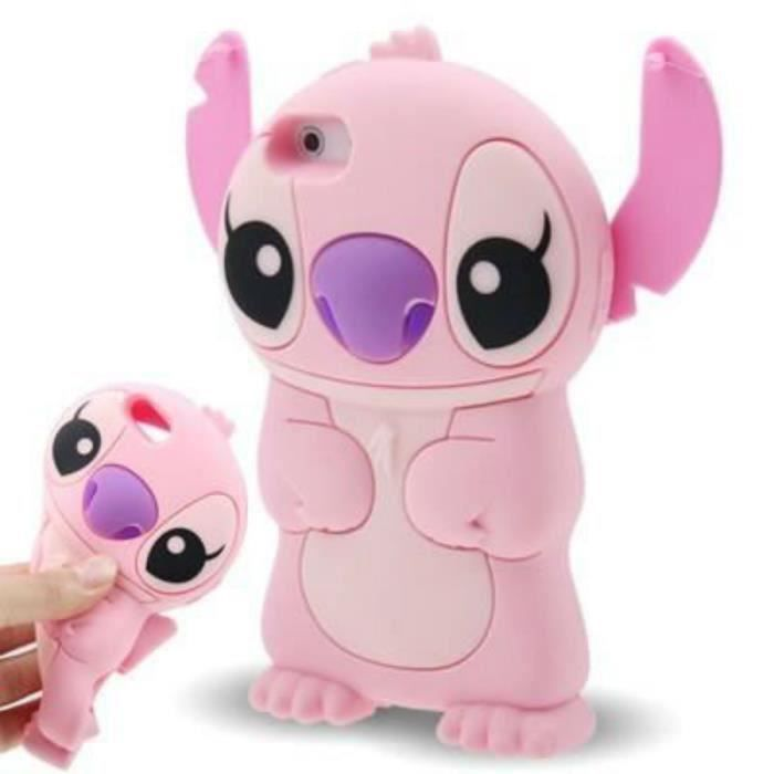 rongle r coque iphone 5 5s rose lilo stitch sil