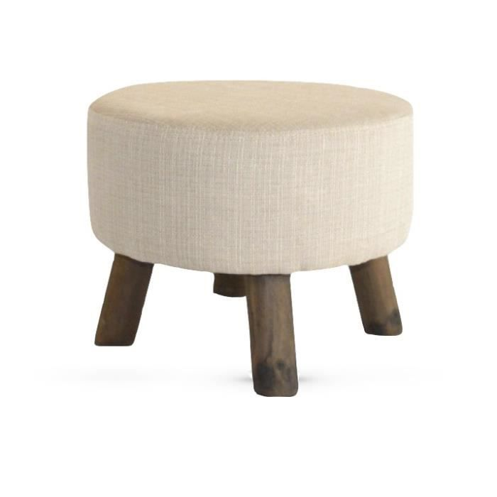 tabouret pouf design scandinave kuopio beige 45cm achat vente pouf poire soldes d s le. Black Bedroom Furniture Sets. Home Design Ideas