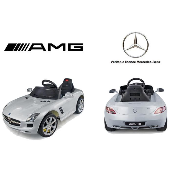 voiture lectrique mercedes benz sls amg silver achat. Black Bedroom Furniture Sets. Home Design Ideas