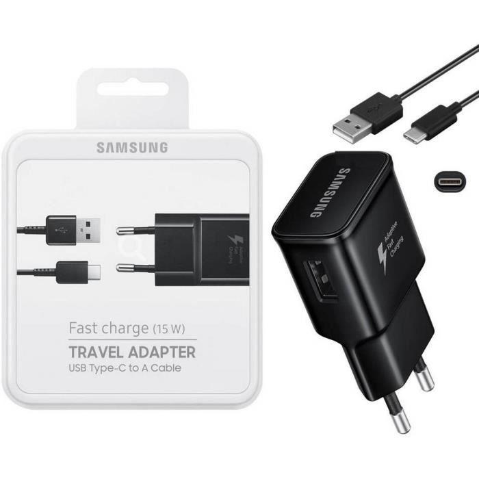 CHARGEUR TÉLÉPHONE Chargeur rapide Samsung S8, S9 avec cable USB type