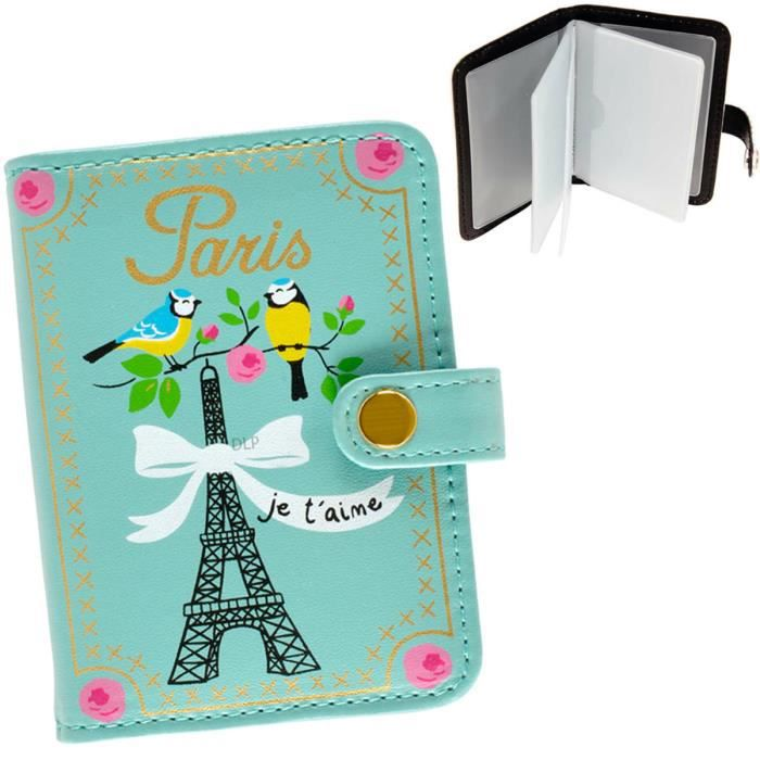 porte cartes de fid lit paris je t 39 aime motif tour eiffel etui rangement id e cadeau original. Black Bedroom Furniture Sets. Home Design Ideas