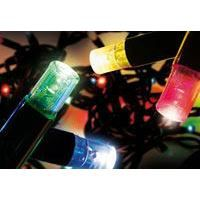 Guirlande 100 led multicolores fil noir 10m achat for Guirlande jardin led
