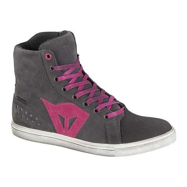 Dainese Street Biker Air Ladies chaussures de moto Gris/Pourpre 42
