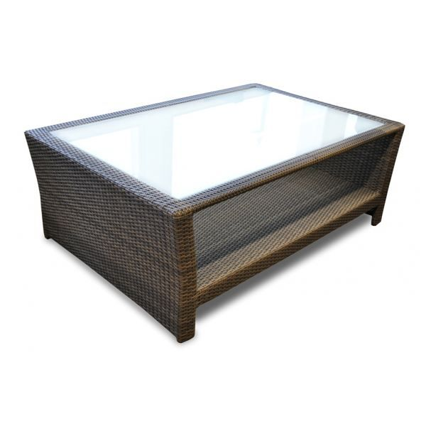 Table basse en r sine tress e m tis proloisirs achat for Table basse jardin resine tressee
