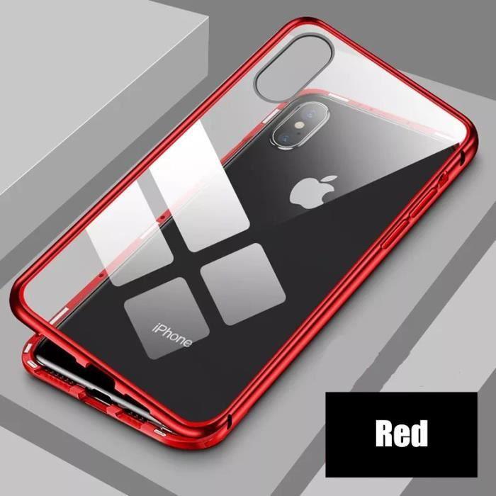 Coque rigide en verre double face pour iPhone 7/8