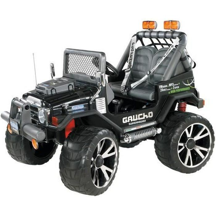 peg perego voiture electrique gaucho 4x4 superpower 2 places 24 volts achat vente quad. Black Bedroom Furniture Sets. Home Design Ideas