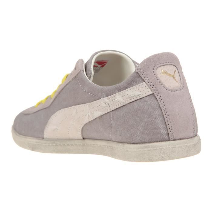 Washed Et Canvas Blanc Puma Baskets Low Mixte Gris Glyde F7qtxv