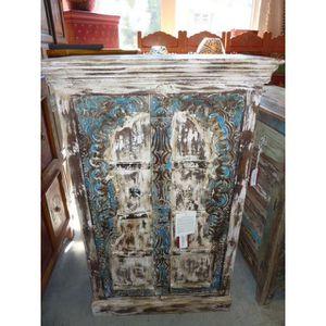 ARMOIRE DE CHAMBRE Armoire basse porte Arche bleue blanche