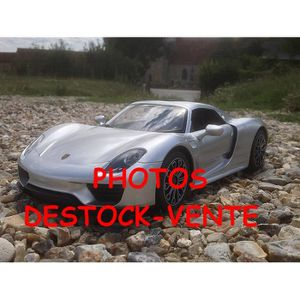 Porsche 918 spyder 33 cm argent voiture radio commandee rc for Porsche 918 interieur
