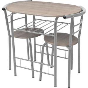 TABLE À MANGER COMPLÈTE Ensemble table à manger 2 personnes + 2 chaises MD