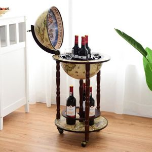 MEUBLE A CASIER COSTWAY Bar Globe Terrestre Mappemonde en Bois d'E