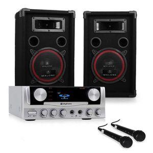 PACK SONO Pack DJ ampli karaoke set sono enceinte 500W kit