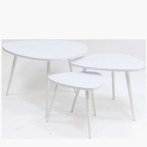 Table basse gigogne achat vente table basse gigogne pas cher cdiscount - Table gigogne blanche ...