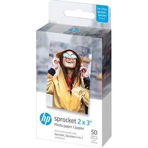 PAPIER IMPRIMANTE HP Sprocket papier photo - 50 feuilles/5 x 7,6 cm