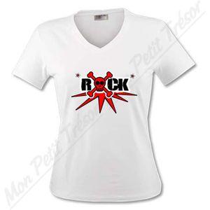 T-SHIRT T-shirt Femme - Rock tête de mor…