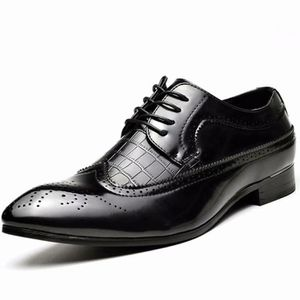 DERBY Chaussure Homme Cuir Brogue Lacets Business Cuir V
