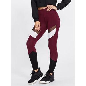 legging sport bordeaux femme