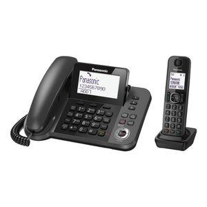 Téléphone fixe Panasonic KX-TGF320 Filaire-sans fil système de ré