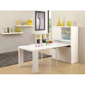 Buffet table extensible astuceo 4 rallonges achat vente buffet bahut buffet table - Console extensible rallonge integree ...