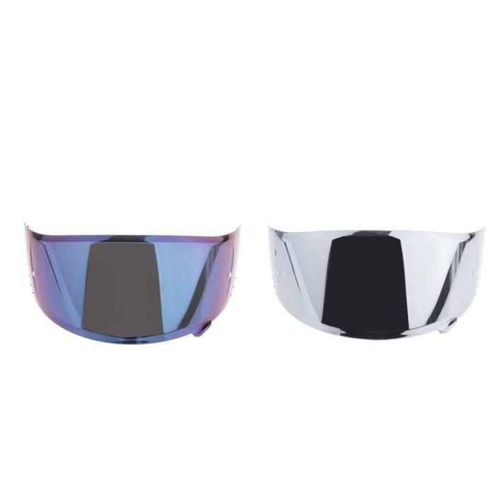 2 pièces casque moto HD visière pour X14 CWR 1 RF 1200 pièces argent + bleu XL36569423