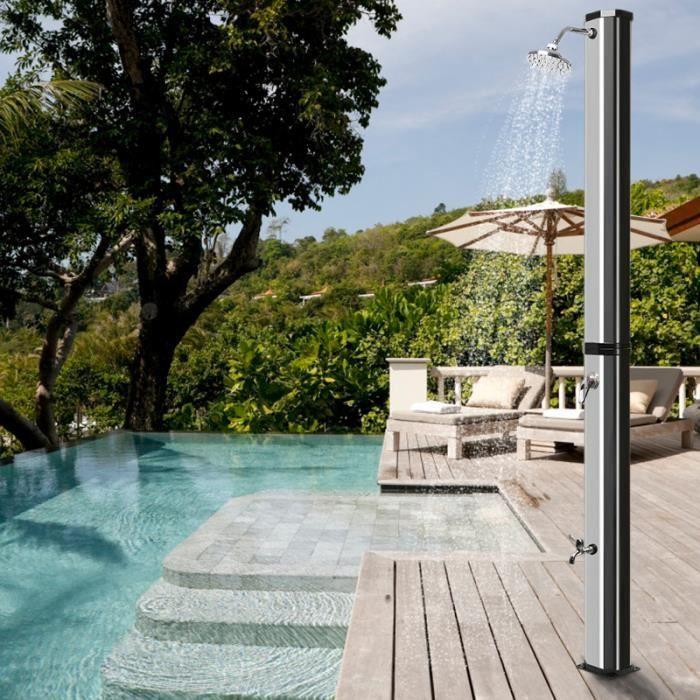 Zuorior®Colonne de douche solaire jardin plage piscine 35L Prisme