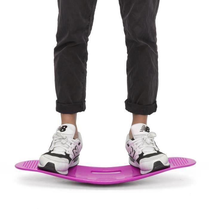 Unisexe fitness planches d'exercices entraînement Balance équilibrage 60X25cm Violet Bo57681