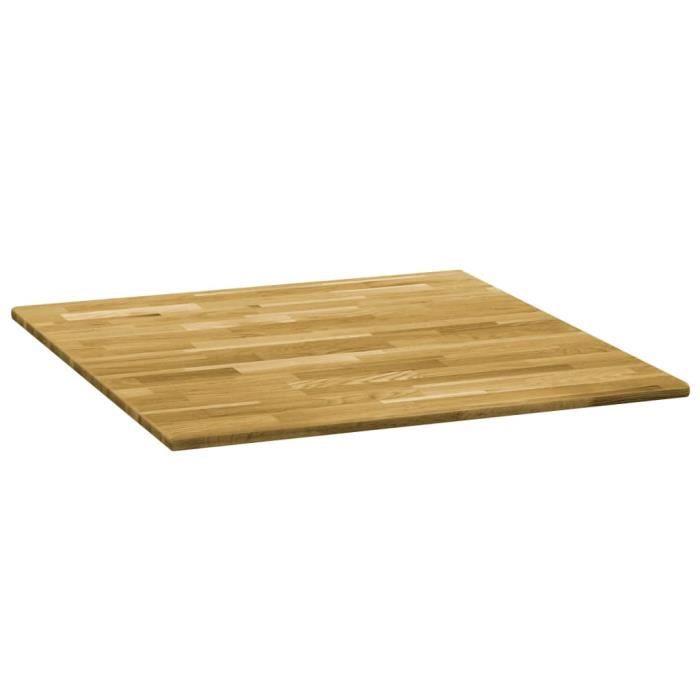 Super Dessus de table Plateau De Table convenable - Bois de chêne massif Carré 23 mm 80x80 cm @967188