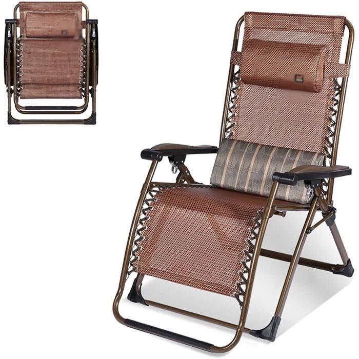 BAIN DE SOLEIL Fauteuil Inclinable Exterieur,Transat De Plage Pliable Chaise Longue,Transat Inclinable Portable, Bain De Soleil 236