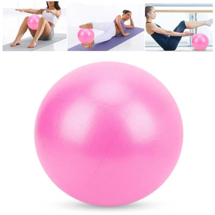 Petit ballon d'exercice Balle d'exercice de yoga robuste de 25 cm pour grossesse Pilates antidéflagrantes(Rose )