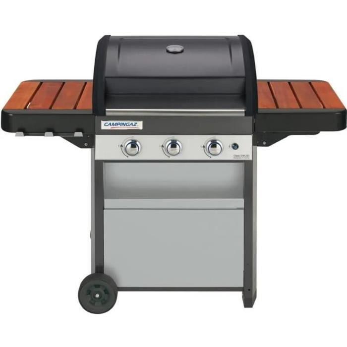 CAMPINGAZ Barbecue gaz Class 3 WLXD - grille en fonte émaille et plancha en acier émaillée - 61 x 45 cm - 3 brûleurs en inox