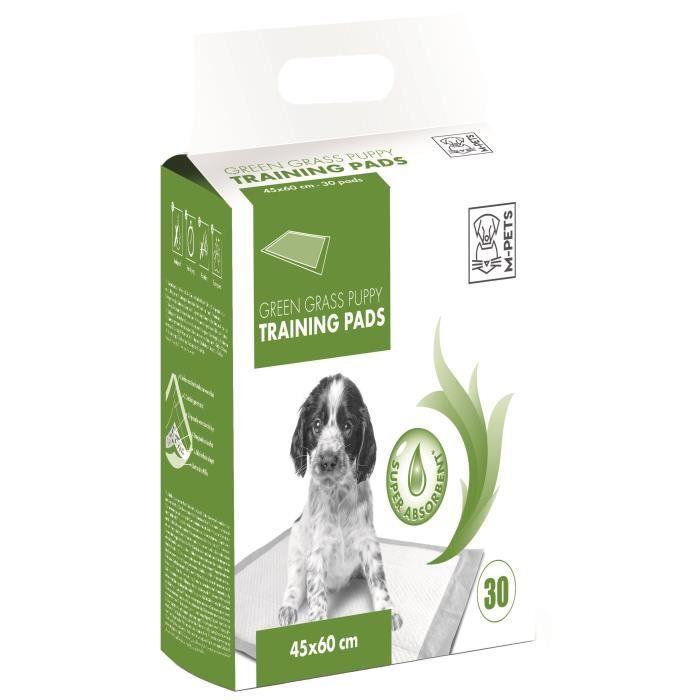 M-PETS Tapis d'apprentissage Green Grass - 30 pièces - 45x60cm - Pour chiot