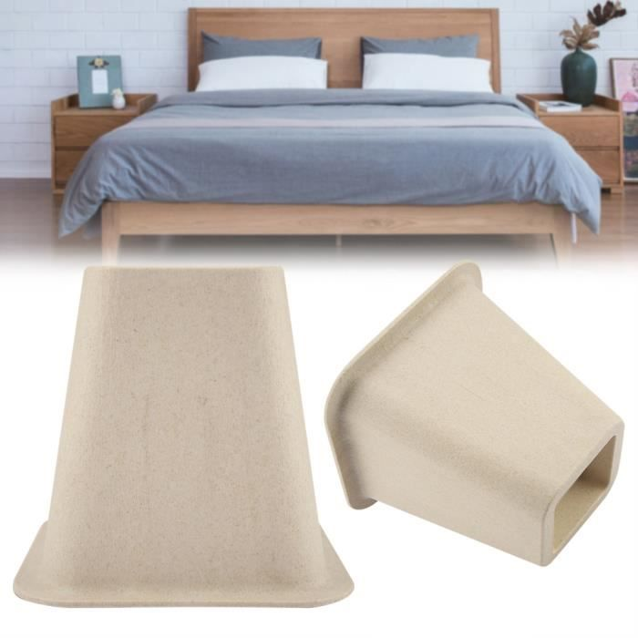 ALA 4 pcs élévateurs de lit et de meubles en porcelaine d'imitation avec le design 'Elephant Feet' pour table bureau chaise lit