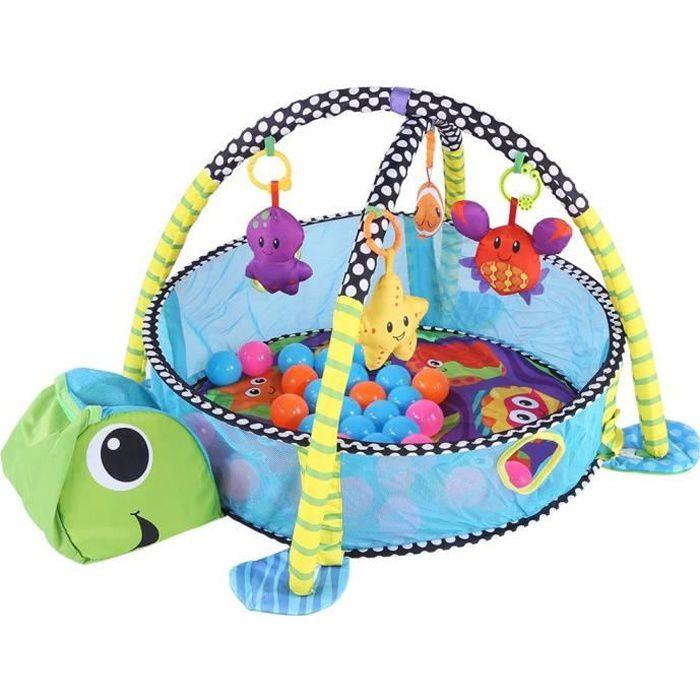 Tapis d'éveil avec Jouet pour Bébé, Tapis de Jeu Evolutif avec Jouets Balles Colorées Couverture de Jeu Arche pour Bébé Enfant