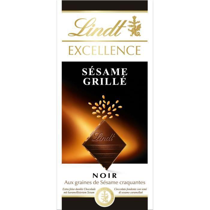 Chocolat noir aux graines de sésame 100g Lindt