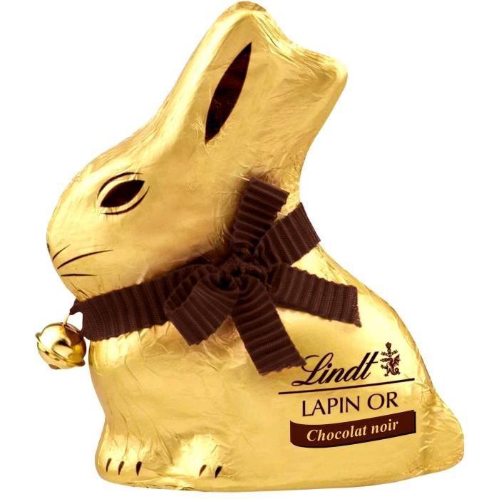 LINDT Lapin Or Chocolat noir 200g