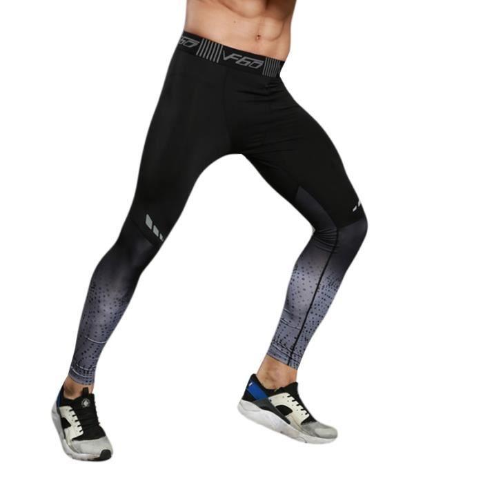 Pantalon de Compression Homme Legging de Sport Fitness Musculation Séchage Rapide