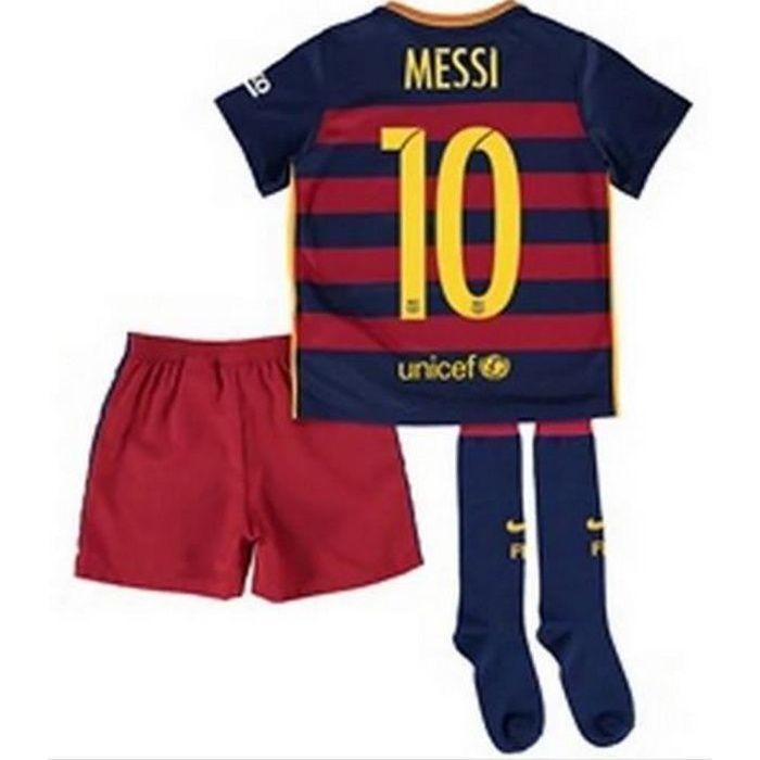 Mini-Kit Officiel Nike FC Barcelone Domicile Flocage Officiel Messi Numéro 10 Saison 2015-2016