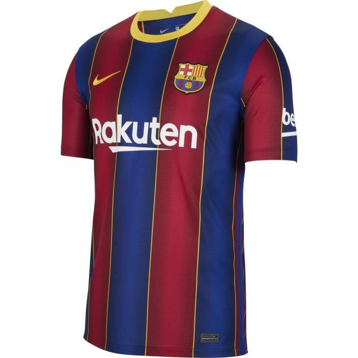 Maillot Nike Barcelone Domicile 2020-21 bleu / rouge / or homme