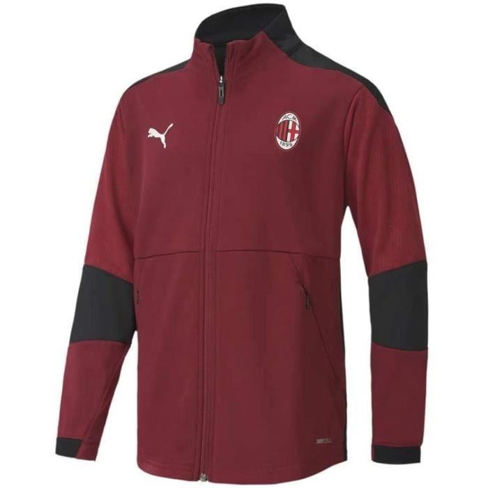 PUMA Veste de Football Junior Entraînement Veste Milan AC Rouge 128